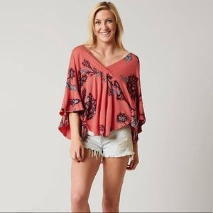New Free people Maui wowie floral oversize top